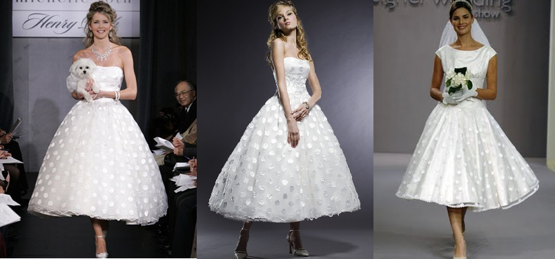 Trendy Wedding Gowns For Brides Polka Dotted Dresses
